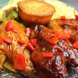What about #BakedChicken for #dinner and some award winning sides from #QTimeRestaurant #Atlanta's #
