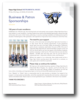 Business | Patron Sponsorships