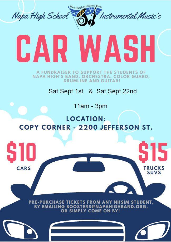 Upcoming Car Wash Fundraisers