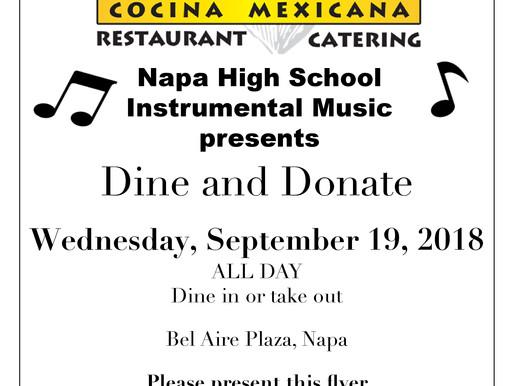 Dine & Donate at Corona Villa Sept 19th..bring family and friends!!
