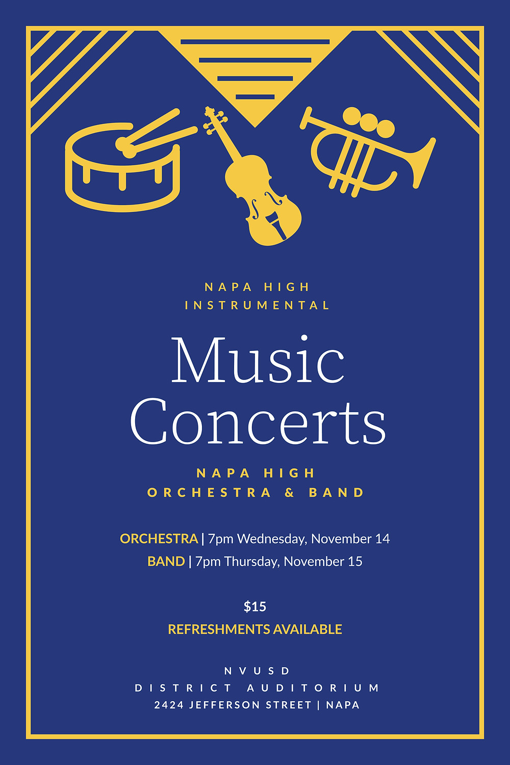 Fall Music Concerts Flyer 2018