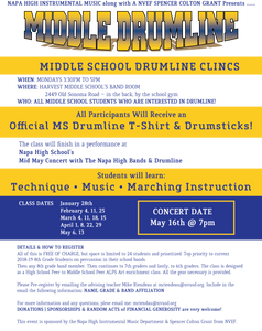 Middle School Drumline Clinic Flyer