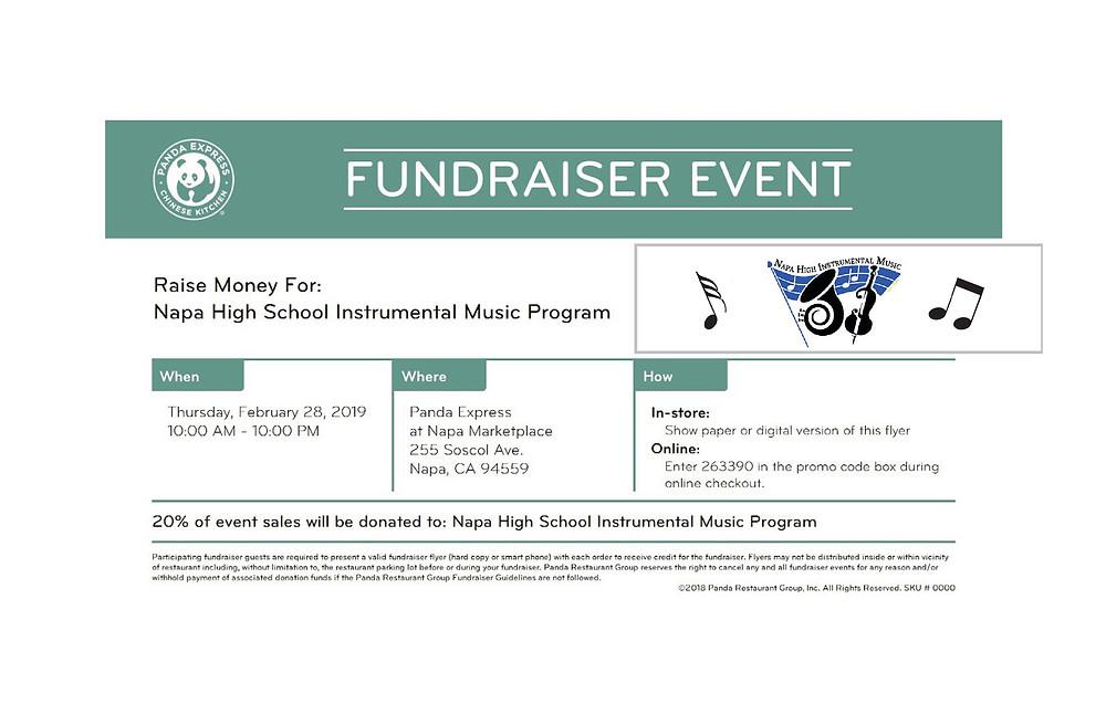 Panda Express Dine & Donate flyer