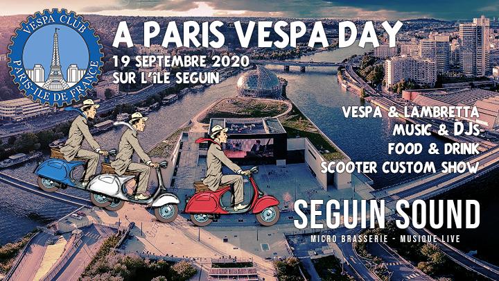La Vespa parade aura lieu sur l'île Seguin !