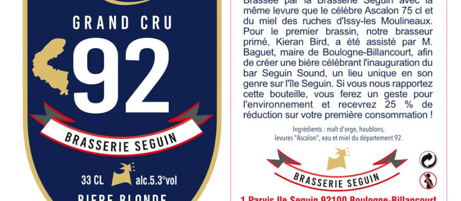 BRASSERIE SEGUIN : GRAND CRU 92 !