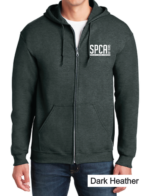 Zip Up Hoodie with Logo
