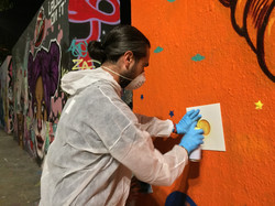 Street art event themed barcelona