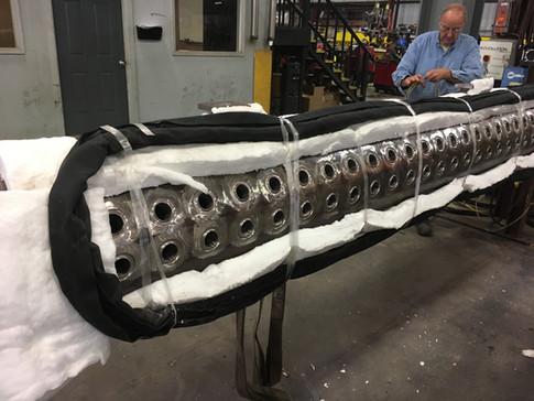 Boiler Tube Header, wrapped