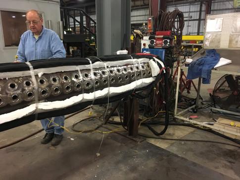 Boiler Tube Header, 500F Preheat