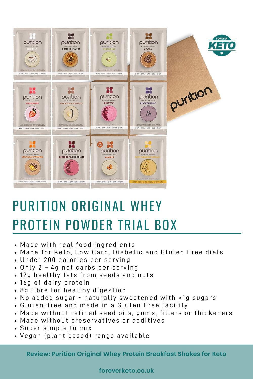 Purition Original Whey Protein Powder Trial Box