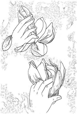 Publication dans le fanzine de bande dessinée  féminin LA BUCHE, Hors série érotique, 07.17