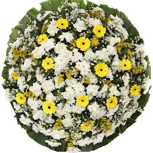 Coroa de Flores média amarela
