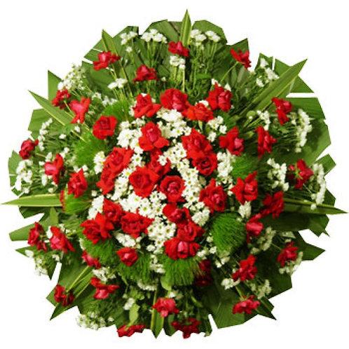Coroa de Flores média vermelha
