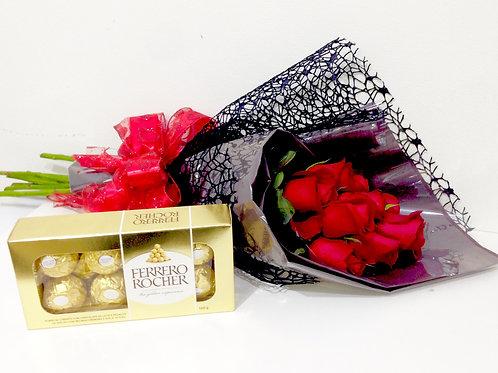 Buquê Isabelle + Ferrero Rocher