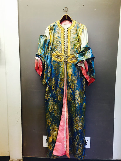 Antique Robe - Silk with Gold Thread