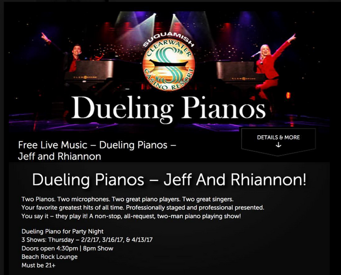 Dueling Pianos at Casinos