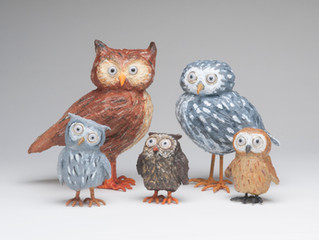 Whooo's the birds for October?  Why it's Clarence, Charlene & the Owlets