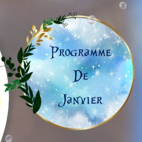 Programme des activités de janvier : créations, sorties, partages...
