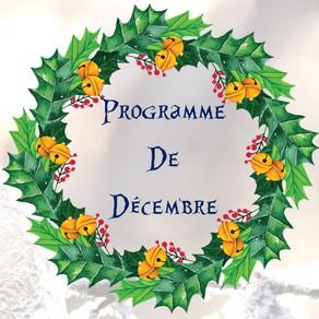 Programme des activités de décembre : ateliers, spectacles, sorties...