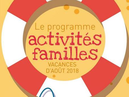Programme Vacances : août 2018