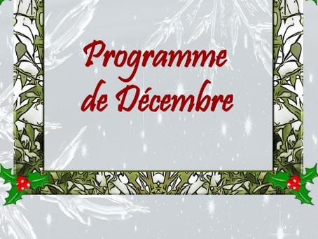 Programme des activités de décembre : fêtes, créations, découvertes !