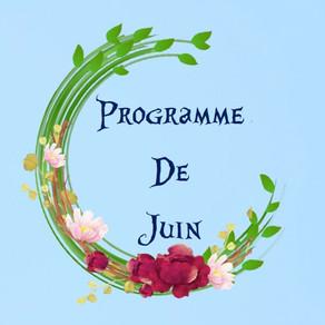 Programme des activités de juin : ateliers créatifs, projets, sorties...