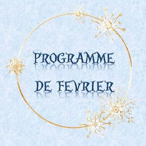 Programme des activités de février : vacances, sorties, ateliers...