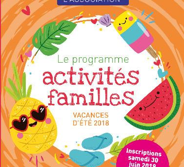 Programme vacances : juillet 2018