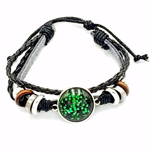 Fireflies Leather Bracelet