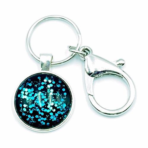 Fireflies Silver Keychain