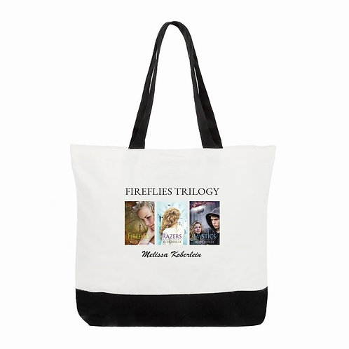Fireflies Trilogy Canvas two-tone tote bag