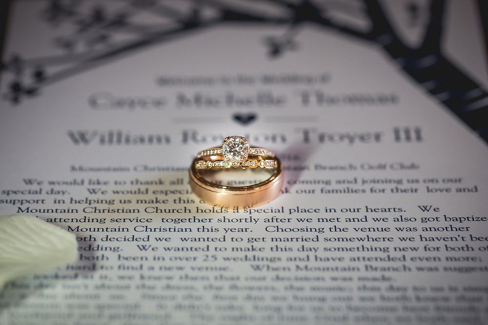 wedding photographer shot checklist ring shot