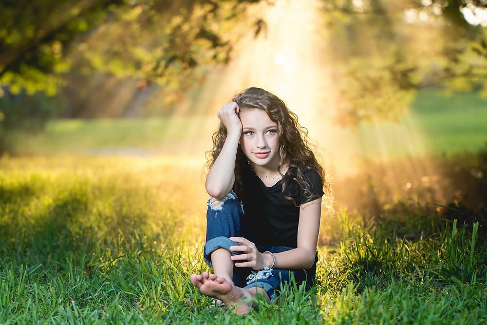 atmosphere aerosol, portrait photography, capturing sun rays, Erika Sneeringer Photograph