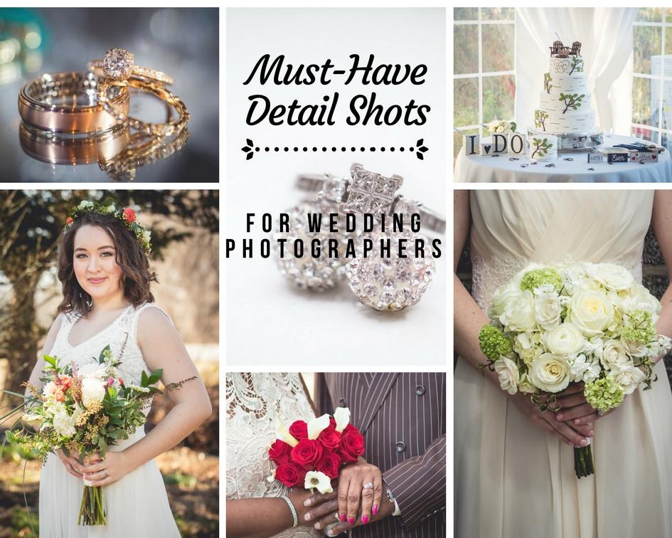 wedding photographer shot checklist ring shot bride bouquet married bridal