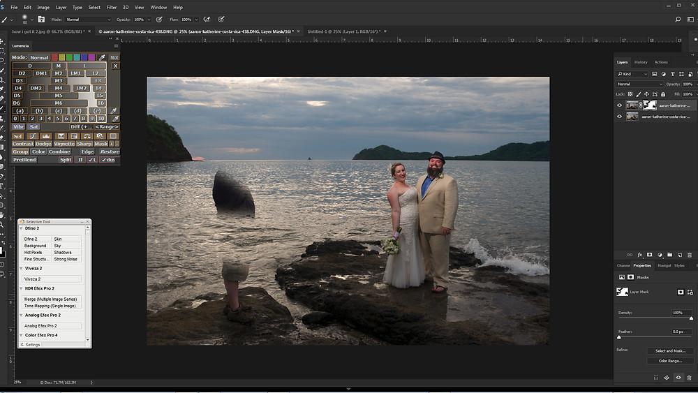 Blending the images together