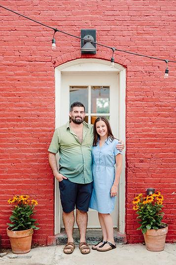 Nick and Lauren at patio door.jpg