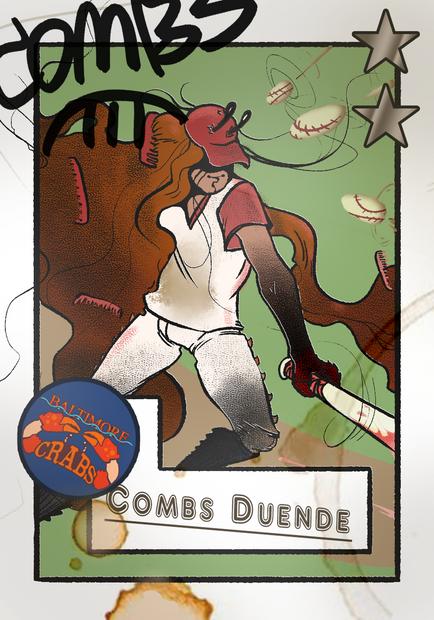 Combs Duende Official Blaseball Player Card