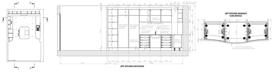 Kitchen technical drawings elevations n
