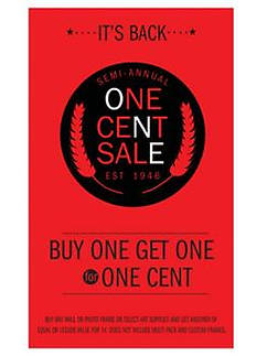 One Cent Sale