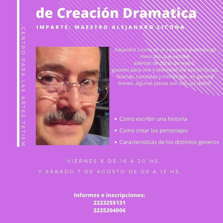 Taller de creación dramática