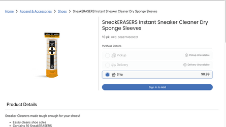 SNEAKERASERS NOW AVAILABLE AT KING SOOPERS