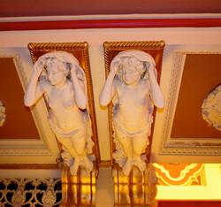 Indiana Theatre ceiling sculptures 2