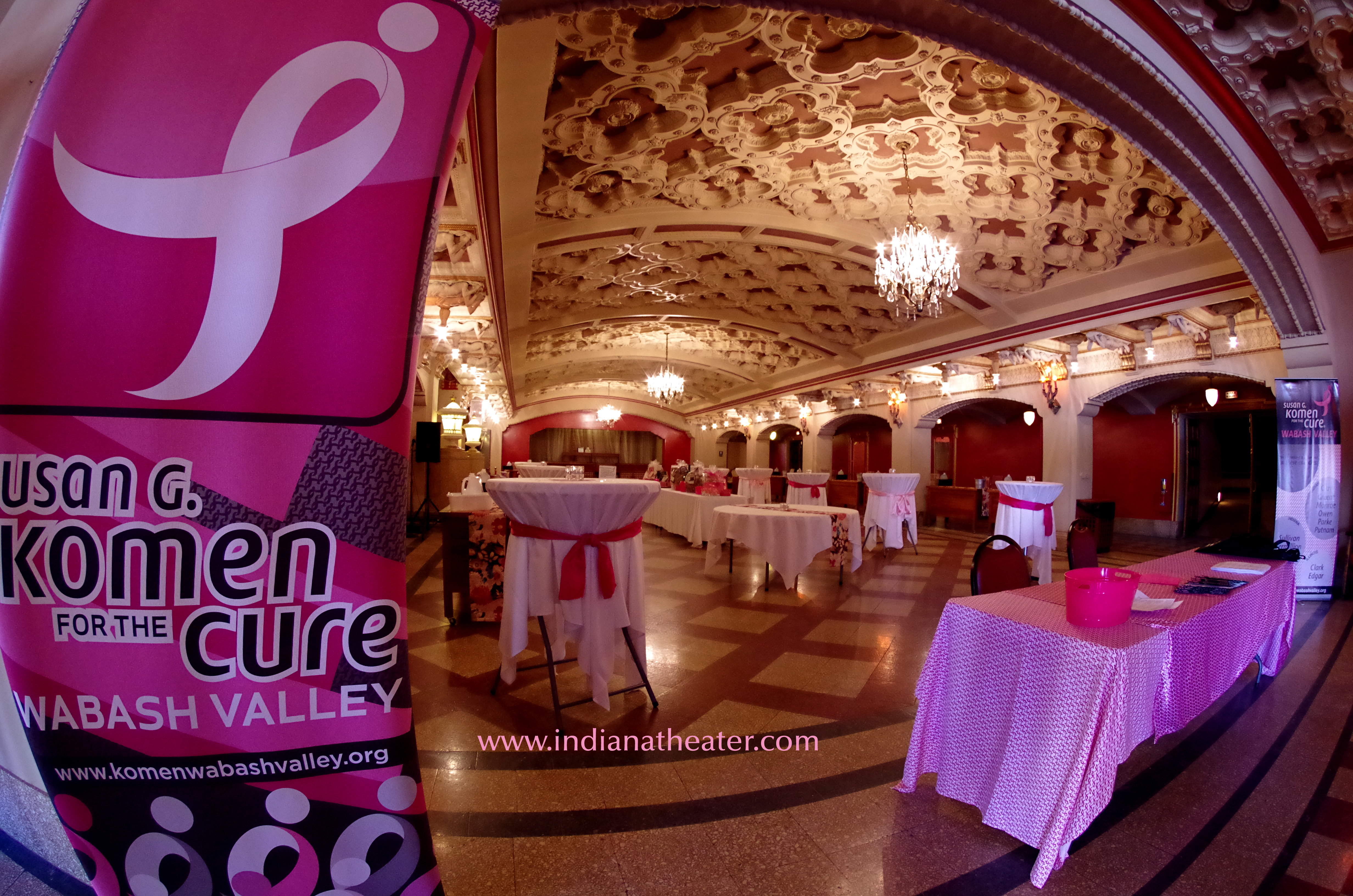 Susan Komen Indiana Theatre Lobby