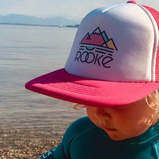 CAP rosa mit Logo Berge