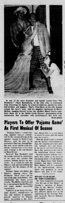 July 1971 Pajama Game