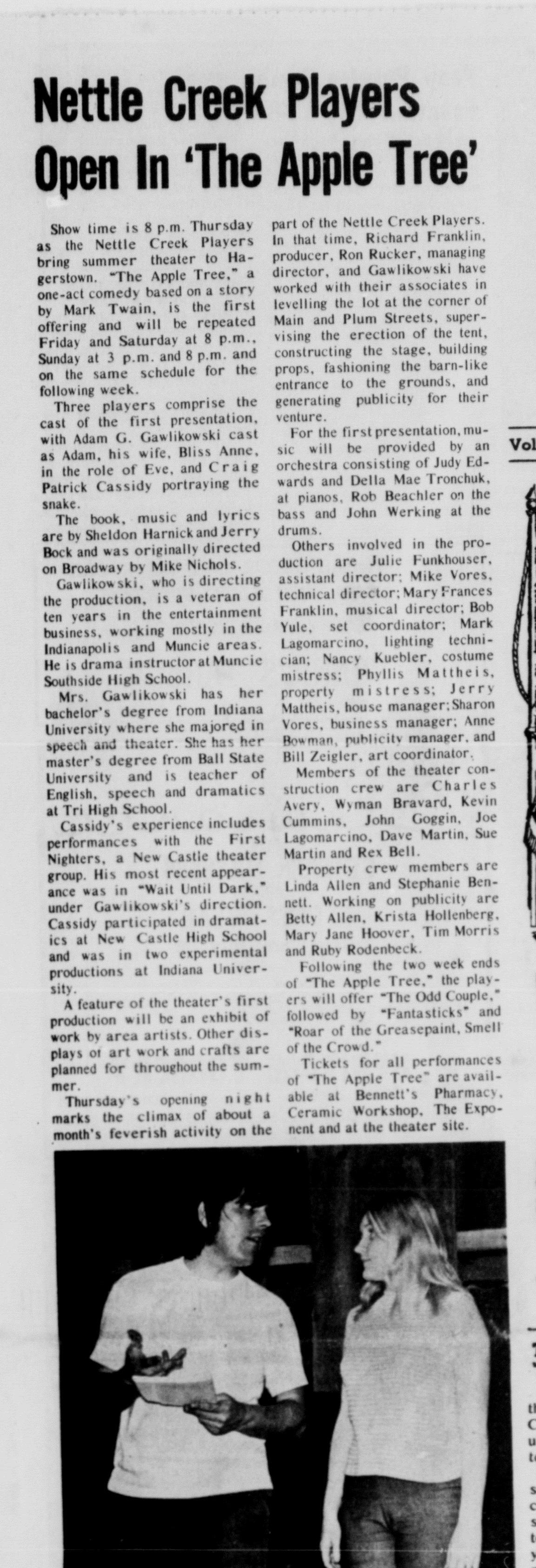 June 1971 Apple Tree