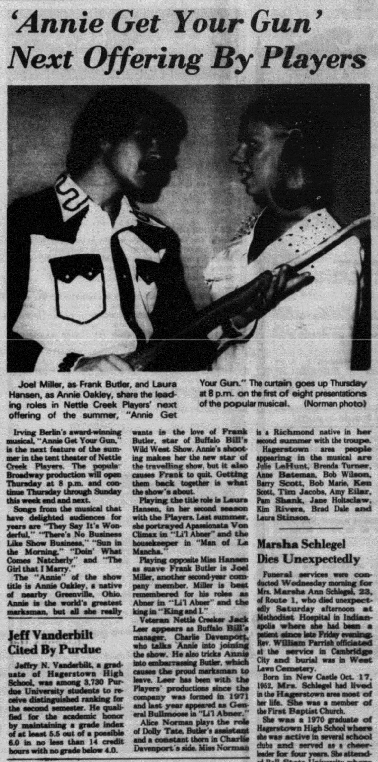 July 1976 Annie Get Your Gun