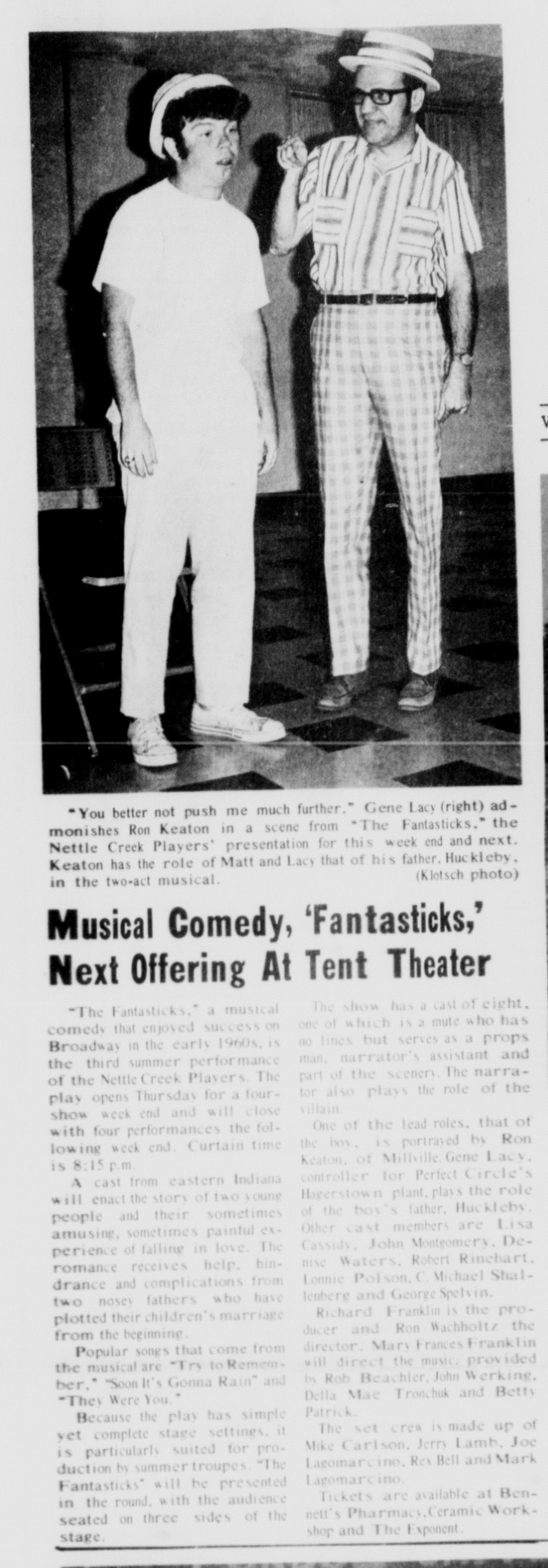July 1971 Fantasticks