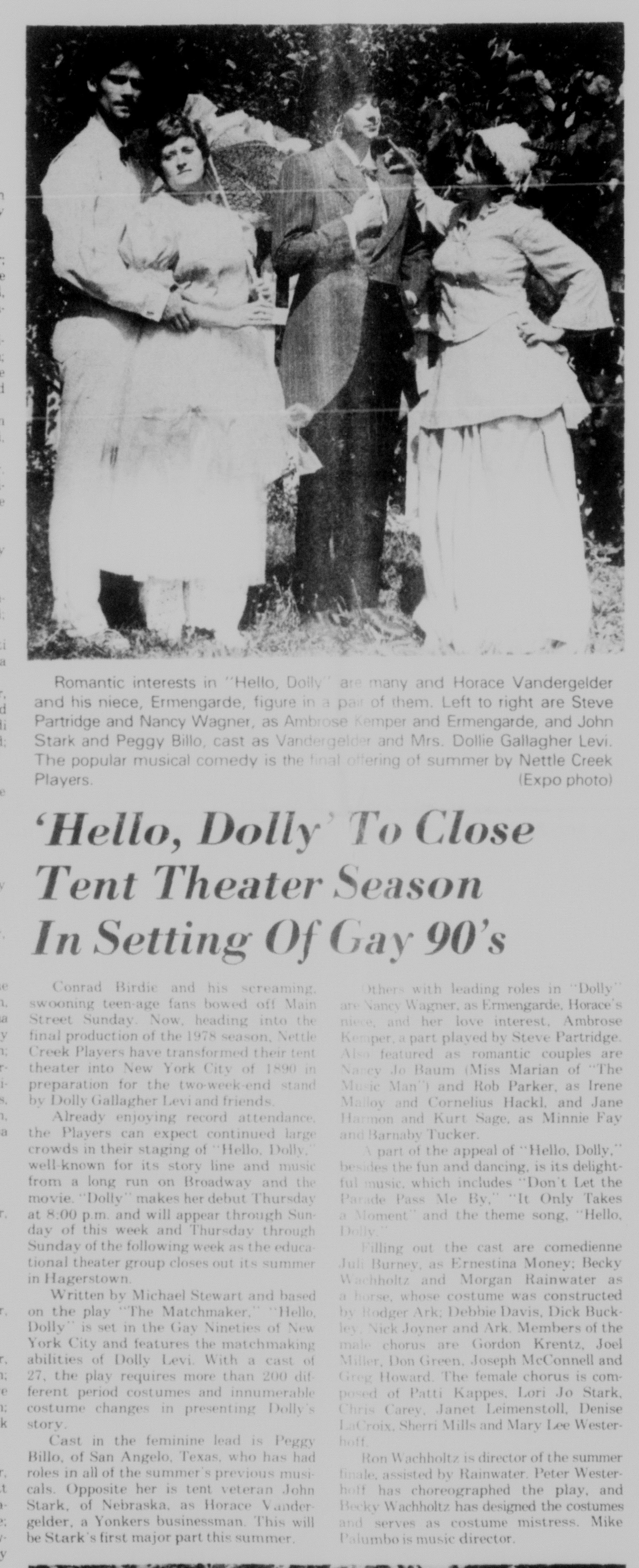 August 1978 Hello Dolly