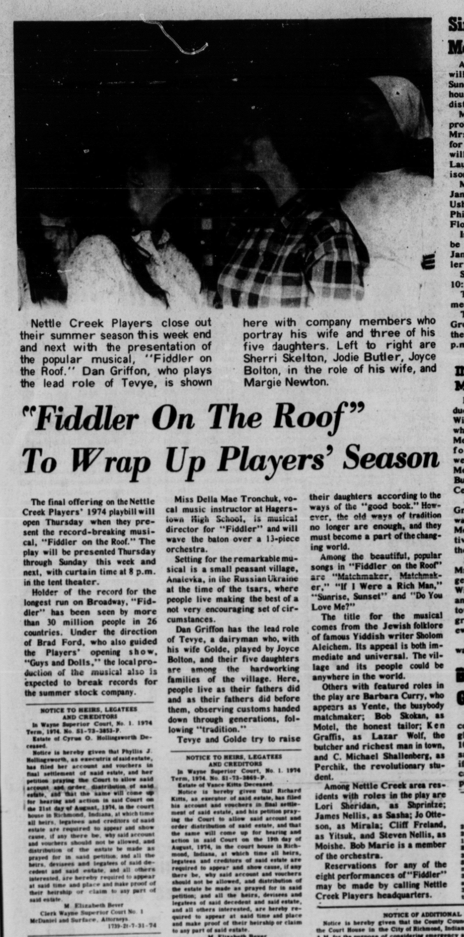 August 1974 Fiddler